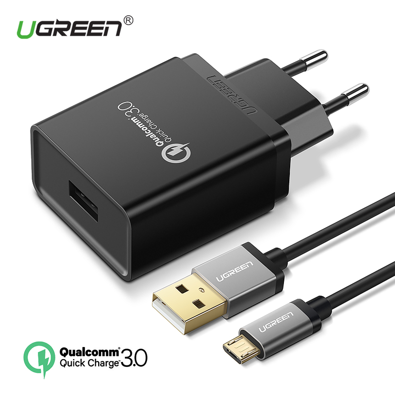 Ugreen USB Caricatore 18 w Carica Rapida 3.0 Caricatore Del Telefono Mobile per il iphone Veloce Adattatore del Caricatore per Huawei Samsung Galaxy s9 + S8 +