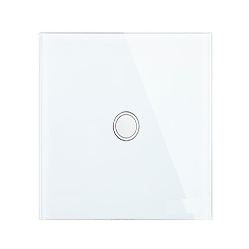 Crystal Glass Panel Wall Touch Switch Smart Home LED Light Switch 1 Gang 1 Way Smart Light Switches EU/UK D601 3gang1way uk wall light switches ac110v 250v touch remote switch