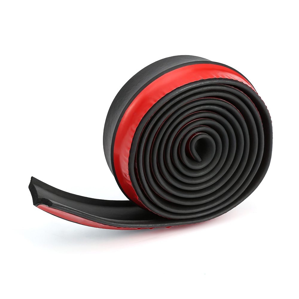 2.5m Car Protector Front Bumper Lip Splitter Car Sticker Body Kit Spoiler Bumpers Valance Chin Car Rubber Strip 60mm Width red black samurai carbon fiber 2 5m car front bumper lip protector rubber splitter valance chin body guard side skirt spoiler