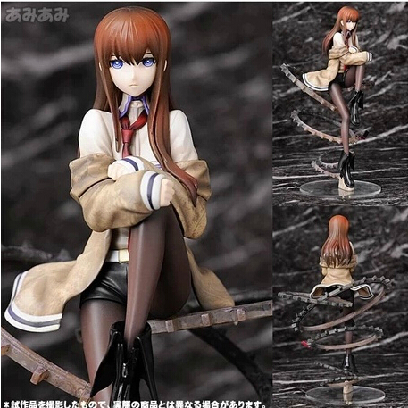 Free Shipping Japanese anime 9 Steins; Gate Makise Kurerirusu 1/8 Scale PVC Action Figure Collection Model Toy Christmas Gifts black butler acrylic keychain action figure pendant car key chain key accessories japanese cartoon key ring hzs002 ltx1