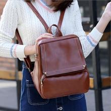 2017 сезон: весна–лето модные женские туфли рюкзак из искусственной кожи высокого качества школьная сумка женская повседневная женская обувь рюкзаки черный, красный коричневый