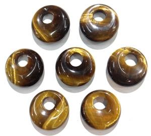 Image 5 - 15 stücke 18mm Natürliche Stein Achate Kristall Türkisen Verkrustete gogo donut anhänger für DIY schmuck machen halskette ohrringe zubehör