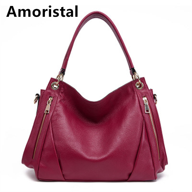 Fashion Designer Women Handbag Ladies Tote Luxury Genuine Leather Bags For Women HandBags Women Shoulder Bags Messenger Bag B070 realer luxury handbags women bags designer fashion shoulder messenger bags ladies large tote bag with zipper pu leather handbag
