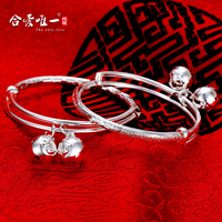 monkey Dragon Silver Bracelet 999 FINE SILVER BRACELET in sterling silver baby child lock men and women