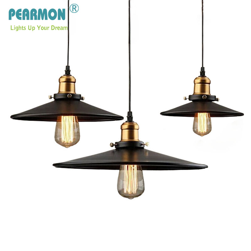 Pearmon Loft Pendant Light Vintage Industrial Retro Ceiling Lamps Dining Room Lamp Restaurant Bar Counter Attic Lighting E27/E26 vintage pendant lights industrial loft american retro lamps creative restaurant dining room lamp bar counter incandescent bulb
