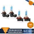 HB4 H11 Xenon 55w Halogen Bulb 4300K Car HeadLight Bulb Driving Light Kit Auto Lamp For Toyota RAV4 2010 4PCS/LOT