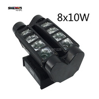 Professional Stage Lighting Mini Led Spider Moving Head Light 8x10W RGBW DMX Led Spider Light Strobe
