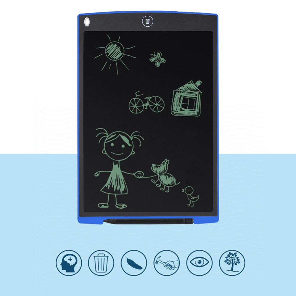 12 Inch Digital drawing tablet Portable Mini LCD Writing Screen Tablet Drawing Board + Stylus Pen graphics pad for kids ...