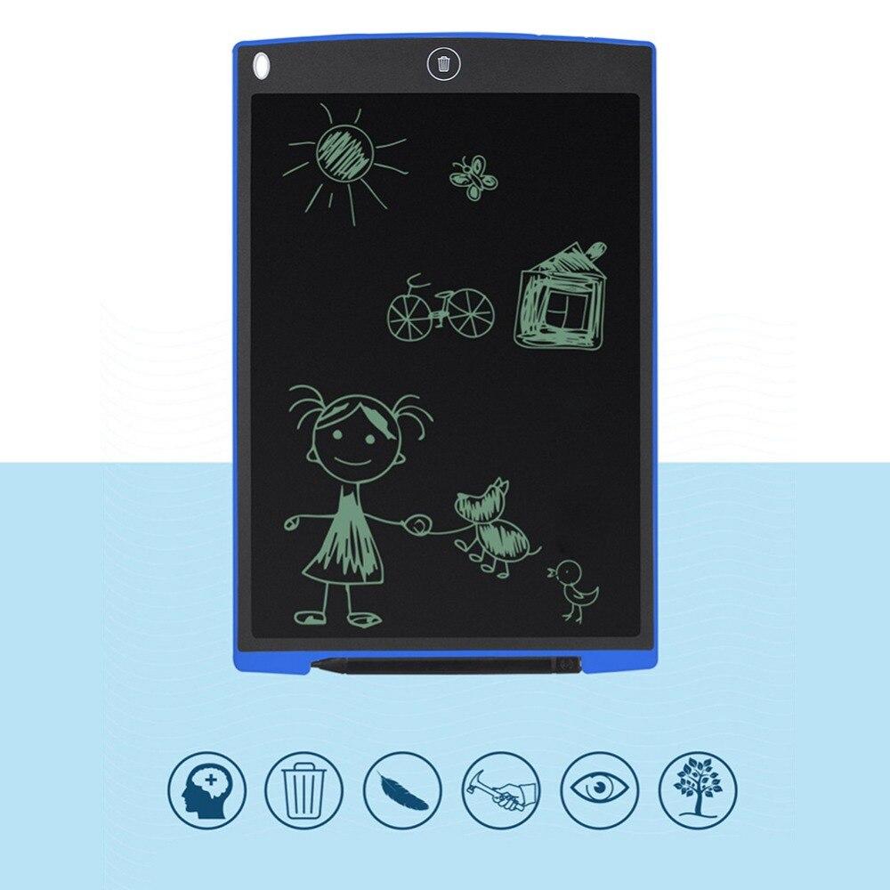 12 дюймов цифровой Планшеты Портативный мини ЖК-дисплей записи Экран Планшеты Чертёжные доски + Стилусы Pen Graphics площадку для детей