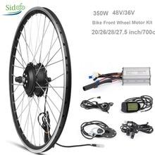 Комплект преобразования велосипеда 36 V/48 V 350 W Электрический контроллер привод для электрического велосипеда 20 «/28» 700 c велосипедный мотор для переднего колеса lcd 5 BLDC комплект