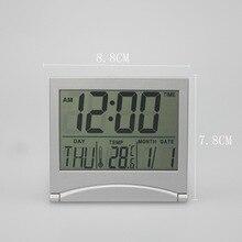30ac8cf59e3 1 pcs New Folding LCD Temperatura Estação Meteorológica Mesa Viagem Mesa Despertador  Digital Relógio de Mesa Relógio Eletrônico