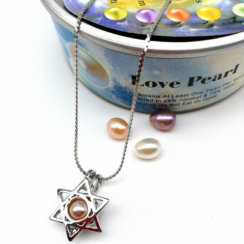 Hongye Meteor Diy Cage Holder Pure Freshwater Pearl Want Pearl Pendant Handmade Necklace Personalized Jewellery Oyster For Girls