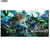 3D Diamond Painting Cross Stitch Alice In Wonderland DIY Square 5d Diamond Embroidery Home Decor Diamond