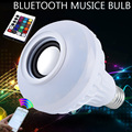 RGB Control Colorful Music LED Light Bulb Bluetooth Speaker Portable Music Smart RGB Bubble Lamp Wireless Bluetooth Music Lights