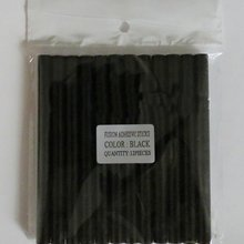 BLACK COLOR 12 x keratin glue sticks for hair extensions+FREE SHIPPING