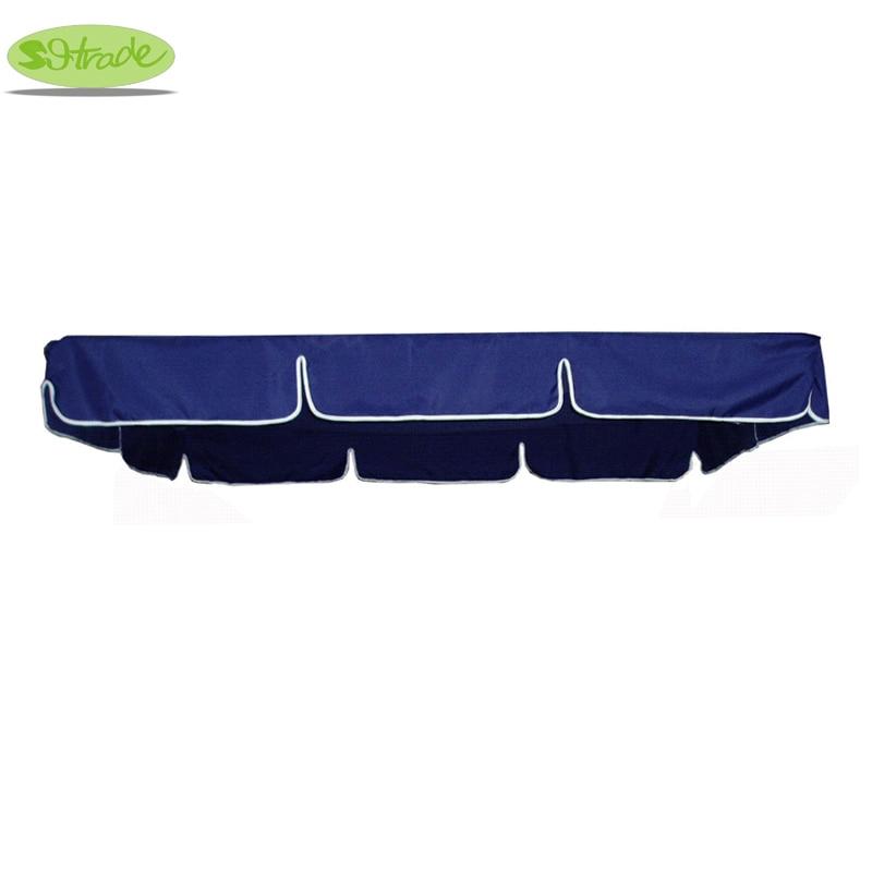 Canopy for 3 seters veranda swing stol og seng, Navy Blue polyester baldakin, vanntett baldakin
