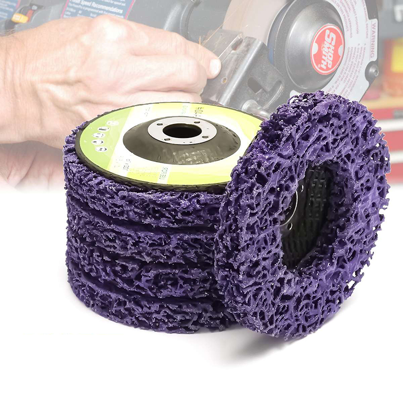 1pc 100/115/125mm Poly Strip Stripper Disc Wheel Stripper Clean Grinder Remover Removal Paint Rust Sanding Polishing