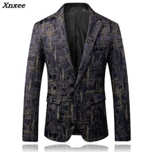 2018 New Mens Fashion Boutique Printing Wedding Blazer Male High-end Brand Business Casual Single buckle Suit Jacket Coats