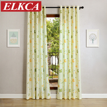 Lucky Clover Flower Printed Christmas Curtains For Living Room Pastoral  Curtains For Bedroom Window Curtains For Children Drapes