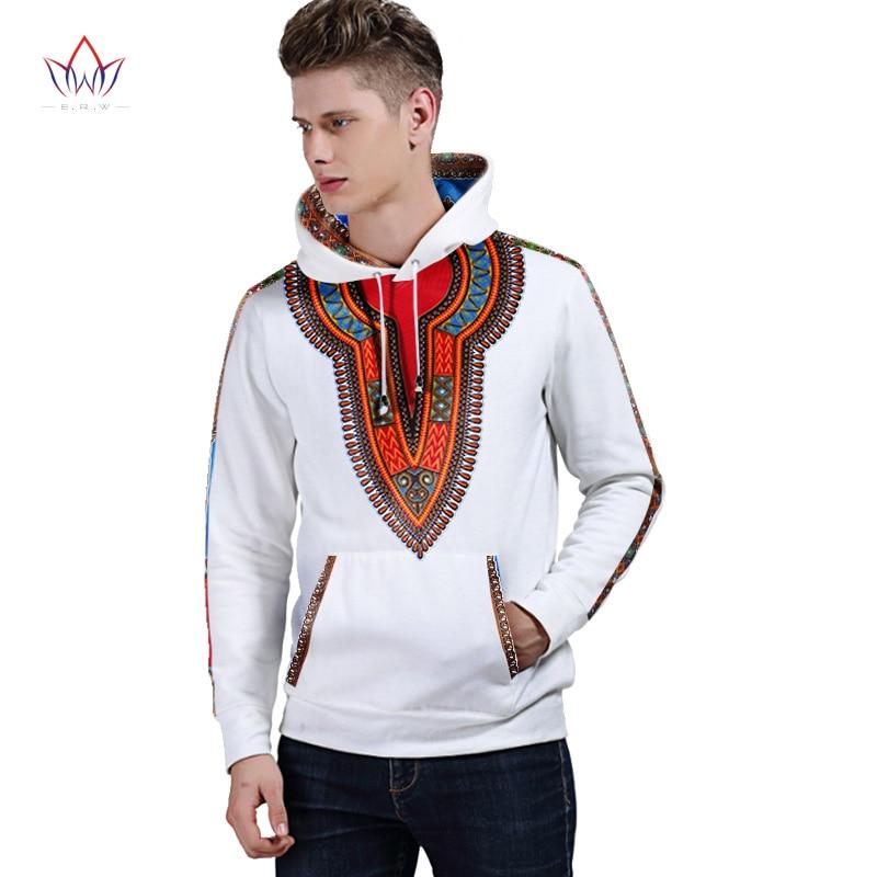 Hiver automne nouveaux hommes vêtements vêtements africains marque traditionnelle vêtements sweat à capuche pour homme vêtements blancs hommes Dahiki BRW WYN226 - 5