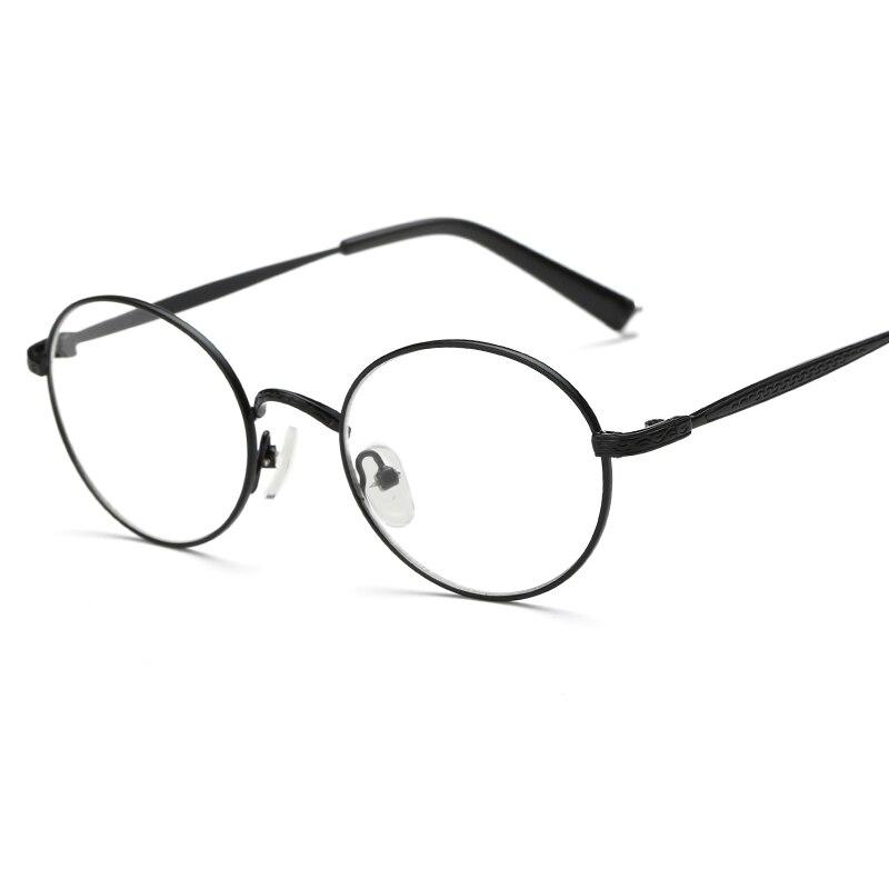 33529fdb5a51 Retro Eyeglasses Frames Clear Lens Round Metal Optical Glasses Harry Potter  Vintage Eyewear Pink .