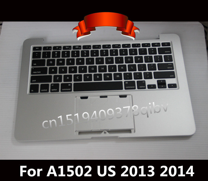 New For Macbook Pro 13.3'' Retina A1502 Topcase Palmrest Top case with US keyboard no track pad 2013 2014 for macbook pro retina 13 a1502 topcase with keyboard upper top case palmrest us layout late 2013 mid 2014 661 8154