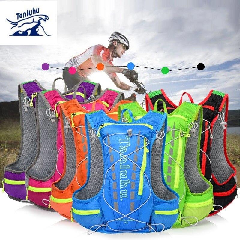 TANLUHU 15L サイクリングランニングバックパック男性女性超軽量、通気性サイクリングクロスカントリーマラソン水袋バックパック 450 グラム