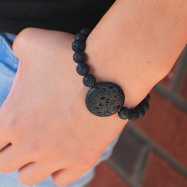 Black Lava Bead Bracelet Essential Oil Diffuser Bracelet