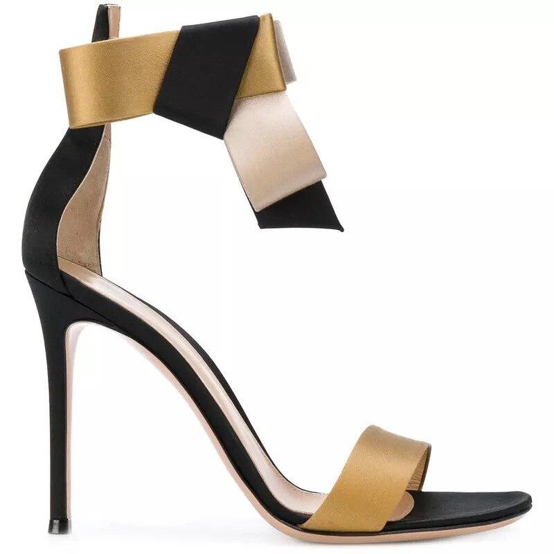 64fe642f3f965 Femmes Nouvelle Cm Talons Sexy Partie Chaussures Boucle Extreme Top 5 Or  Sandales De Qualité Mariage ...
