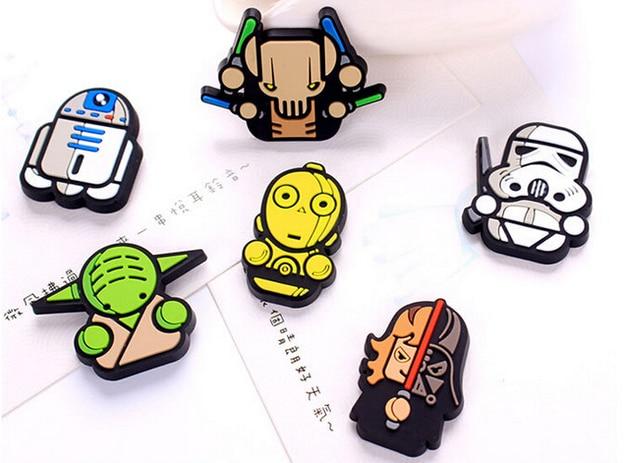 1 Pcs Nouveau Dessin Anime Star Wars Refrigerateur Aimants Enfants