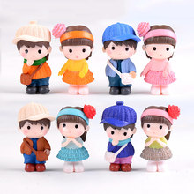 Boy Girl Model Doll Toy Son Daughter Student Children Family Childhood Small Statue Figurine Crafts Ornament Miniatures Display(China)