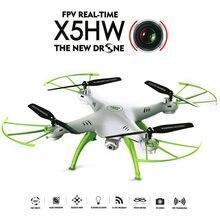 Syma x5hw quadcopter zangão com câmera wifi fpv hd real-tiem 2.4g 4ch rc helicóptero quadcopter rc brinquedo x5sw atualizar vs m5a