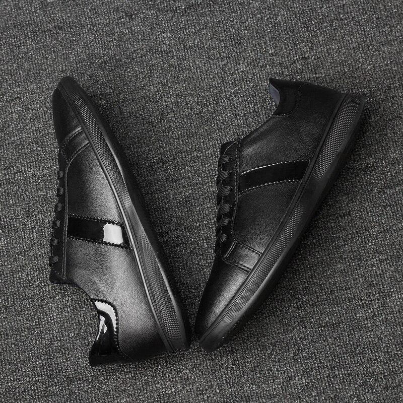 white Air Lace Up Appartements Black Cuir K3 Marque Chaussures Plein Respirant Sneakers Casual Robe Homme Luxe De Mode Hommes Véritable En zORPfqx6w