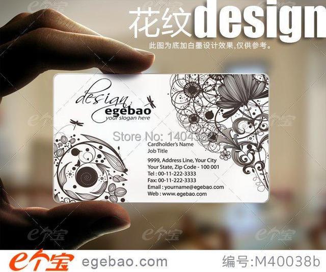 Us 45 9 15 Off Exquisite Freies Design Kundenspezifische Visitenkarten Besuchen Kartendruck Transparent Pvc Visitenkarte Druck No 2075 In Exquisite