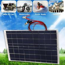 DIY 18V 30W Smart Solar Panel Car RV Boat Battery Charger Universal W Alligator Clip Professional