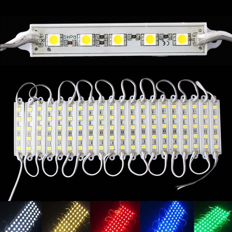 Hot Sale 5 SMD 5050 LED Module Light Waterproof Hard Strip Bar Light Lamp 12V 5 Color #58338