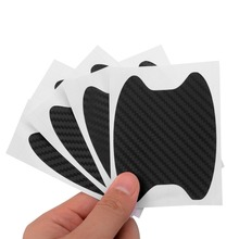 NEW 4pcs 68 x 85MM Carbon Fiber Car Door Handle Anti Scratch Protector Film Sticker Universal universal diy pvc carbon fiber decorative car sticker black 30 x 127cm