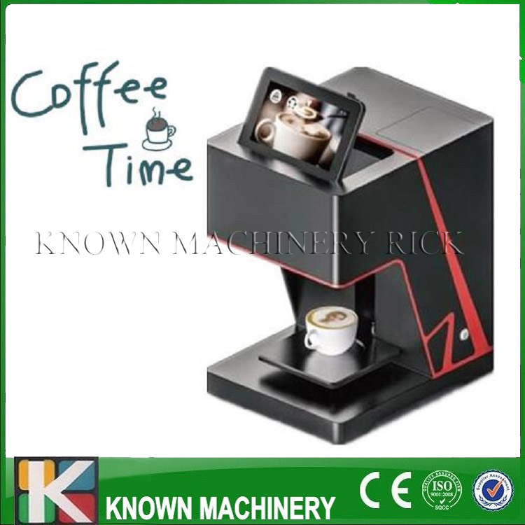 The best selling KN-QN1 3D digital coffee printer selfie coffee vending printer machine with phone use directly small condoms vending machine with coins acceptor with 5 choices
