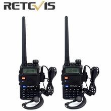 2 unids Retevis RT 5R VOX Walkie Talkie 5 W 128CH UHF/VHF Jamón cb Frecuencia Radio de Dos Vías comunicador Hf Transceptor A7105A