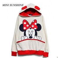 74060c8d78 Kawaii Women Hoodies Mickey Cartoon Hooded Sweatshirts Female Loose Fleece  Pullover Plus Size Harajuku Hoodies Outwear