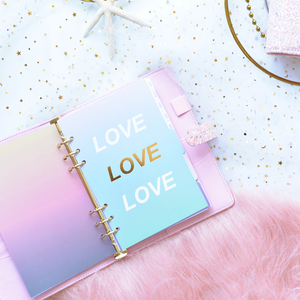 Image 4 - Lovedoki Sequins Series Binder Notebook Dokibook Spiral Planner A5A7 Personal Diary Notebooks And Journals Cute Gift Stationery