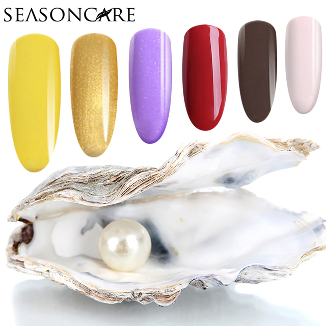 SEASONCARE UV LED Curing Nail Gel Long Lasting UVPearl fragrance Nail Polish Manicure Top Base Coat Free Tip Guides Soak Off Gel
