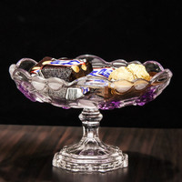 European fashion fruit dish rose glass high fruit bowl snack snack plate sushi plate ZP01241920