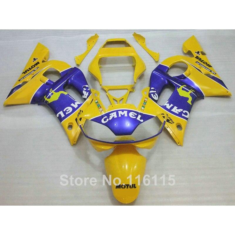 Fit for YAMAHA R6 fairing kit 1998 1999 2000 2001 2002 yellow blue YZF R6 fairings 98 99 00 01 02 full set kits PL09