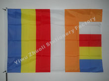 Buddhism Flag 150X90cm (3x5FT) 120g 100D Polyester Free Shipping Religious Flags
