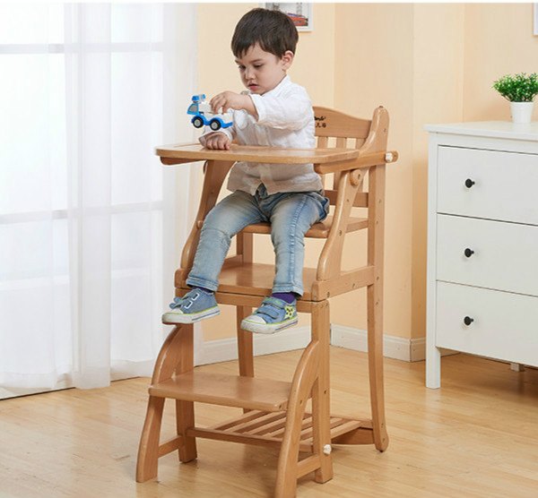 portable folding high chair wicker barrel solid wood baby dining children chairs multifunctional feeding seat with plate c01 in booster seats from mother
