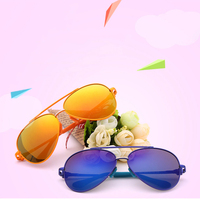 Metal Vintage Sun Glasses Reflective Children Sunglasses Outdoors Sports Eyewear Child Gift fashion Driving Shade Eyewear WD563