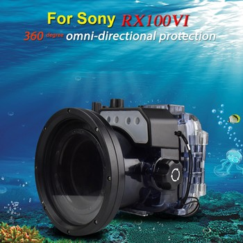 Free ship DHL Seafrogs 60m/195ft Diving Camera Waterproof Housing Case for Sony RX100 VI