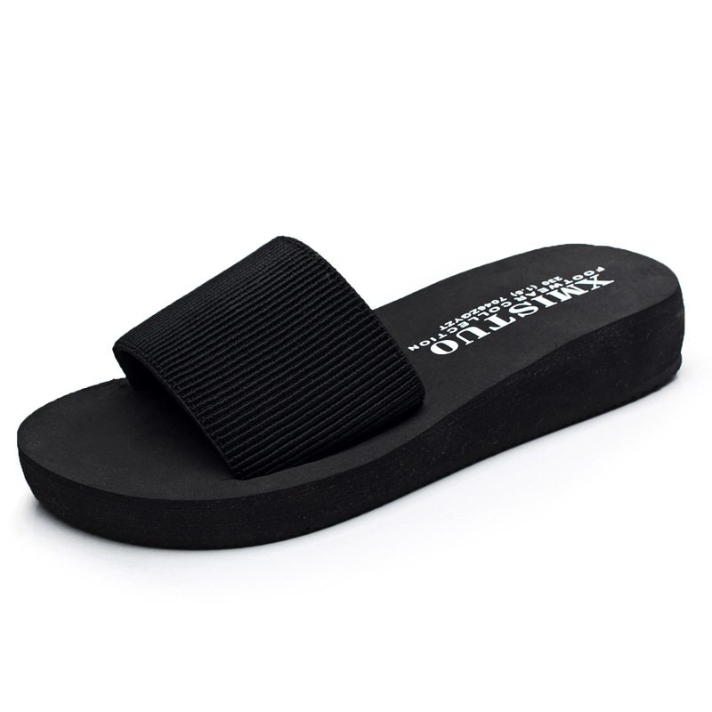 XMISTUO Brand 2018 New Casual Non-slip Platform Slides Wedges Women Flip Flops Femme Slippers Summer Beach Jelly Shoes Sandals