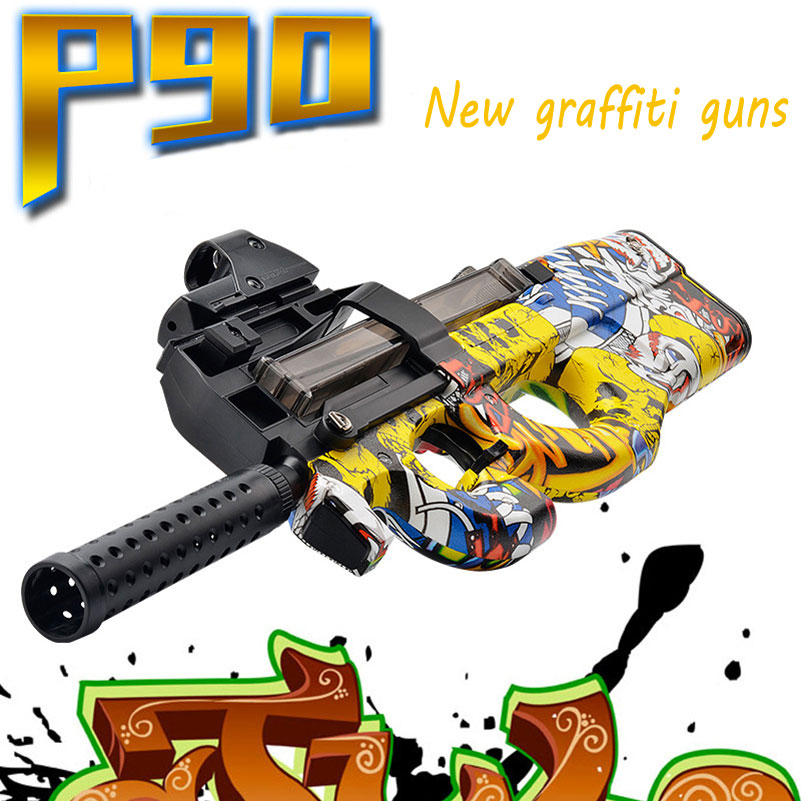 P90 Graffiti édition électrique jouet pistolet eau balle éclate pistolet en direct CS assaut Snipe arme en plein air pistolet jouets